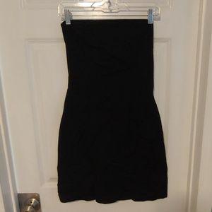 3/$10 No Boundaries Stretch Strapless Black Dress